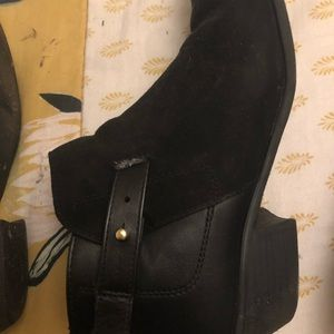 Barely worn faux suede ankle booties